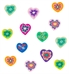 Alternate close up view of assorted colorful beads included in Lanni Rainbow Heart Medical ID Bracelet