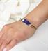 Woman wearing magic finish medical alert micro cuff bracelet