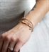 Interchangeable Rose gold dipped chain and Rose gold filled beads bracelet shown on wrist