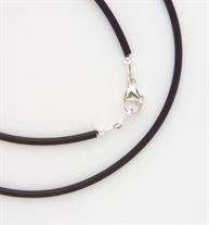 """The Replacement Black Tube Necklace is an 18"""" black tube necklace with stainless steel clasps."""