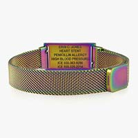 Magnetic clasp of magic finish stainless steel medical ID bracelet
