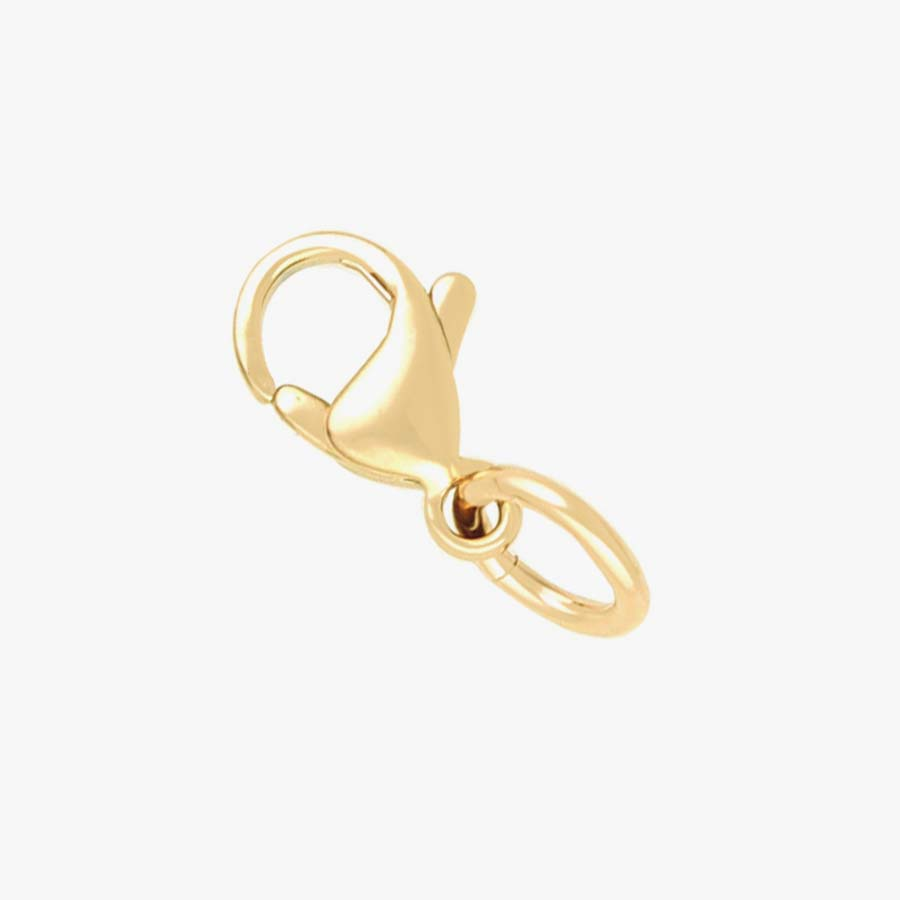 Gold tone lobster clasp with attached jump ring