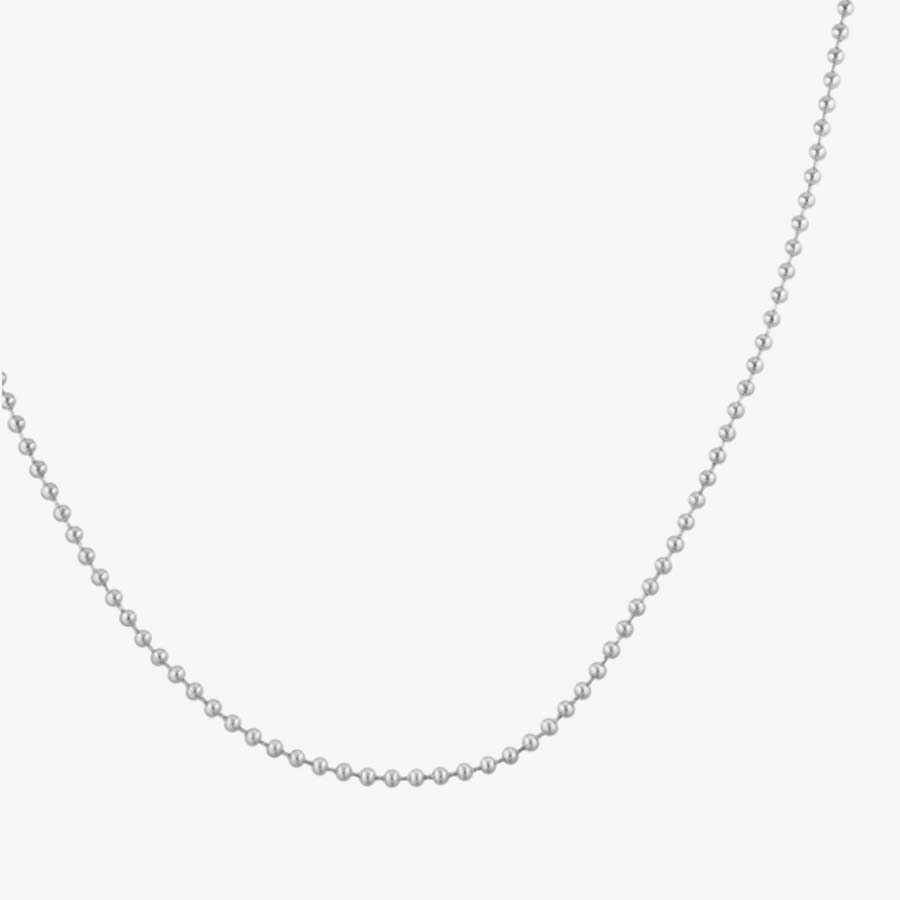 """The Replacement Ball Chain Necklace is a silver-tone stainless steel ball chain that comes in  4"""", 18"""", and 24"""" lengths"""